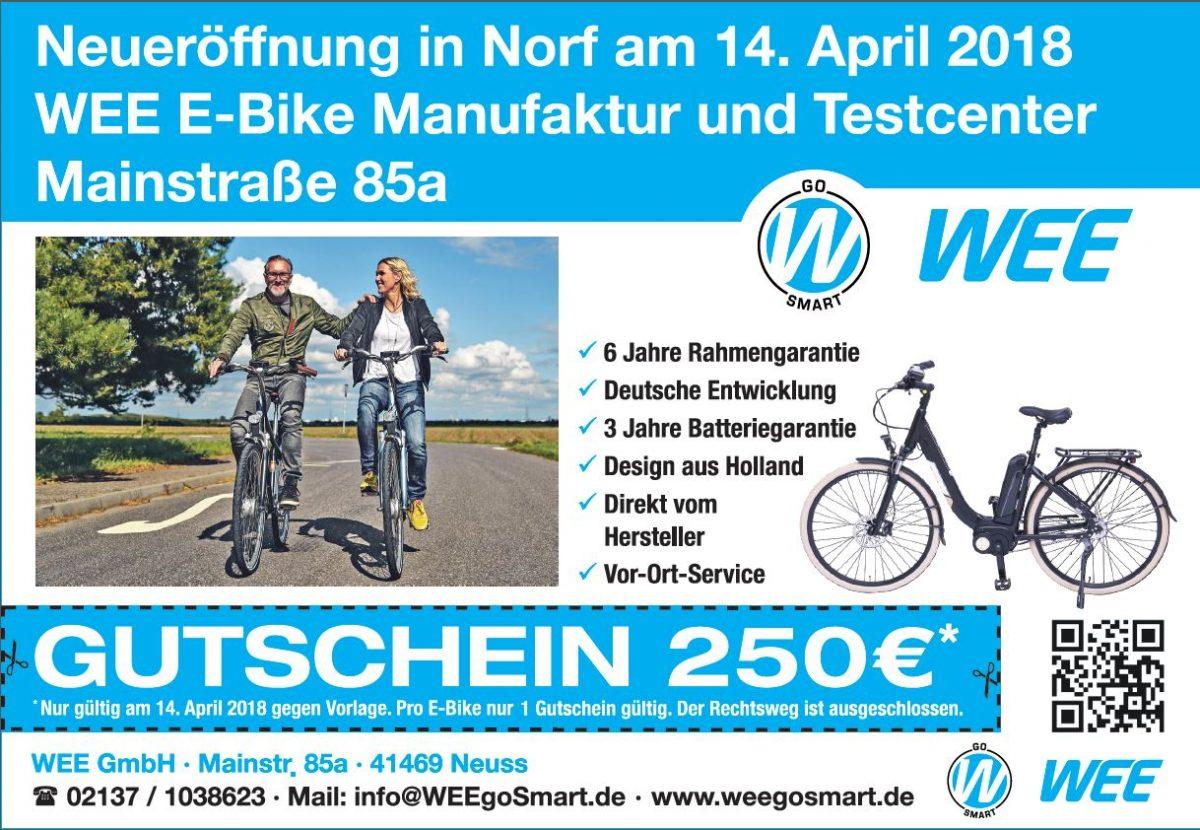 Eröffnung WEE E-Bike Manufaktur 14-April-2018