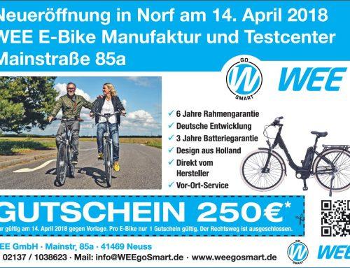 WEE E-Bike Manufaktur Neueröffnung 14 April 2018