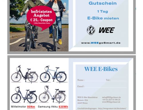 WEE E-Bike Manufaktur auch zum Mieten